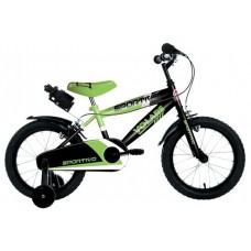 Volare Sportivo Kinderfiets - Jongens - 14 inch - Neon Groen Zwart - Twee Handremmen - 95% afgemonteerd - 2041