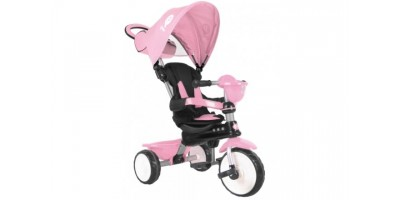 QPlay Driewieler Comfort Roze 4 in 1 - 944