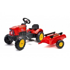 Falk Supercharger - Jongens - Rood - Traptractor - 2030AB