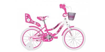 Volare Lovely Kinderfiets - Meisjes - 12 inch - Roze Wit - 95% afgemonteerd - 2036