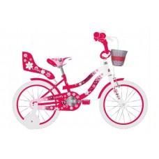 Volare Lovely Kinderfiets - Meisjes - 12 inch - Rood Wit - 95% afgemonteerd - 2038