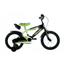 Volare Sportivo Kinderfiets - Jongens - 14 inch - Neon Groen Zwart - 95% afgemonteerd - 2040