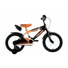 Volare Sportivo Kinderfiets - Jongens - 14 inch - Neon Oranje Zwart - 95% afgemonteerd - 2042
