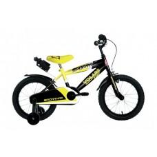 Volare Sportivo Kinderfiets - Jongens - 14 inch - Neon Geel Zwart - 95% afgemonteerd - 2044