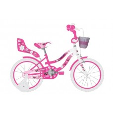 Volare Lovely Kinderfiets - Meisjes - 14 inch - Roze Wit - 95% afgemonteerd - 2046