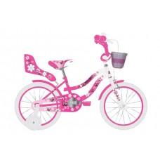 Volare Lovely Kinderfiets - Meisjes - 16 inch - Roze Wit - 95% afgemonteerd - 2066