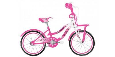 Volare Lovely Kinderfiets - Meisjes - 20 inch - Roze Wit - Twee Handremmen - 2091