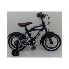 Volare Black Cruiser 12 inch jongensfiets - 21201-IT