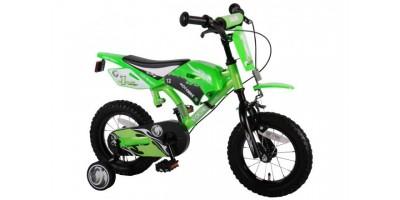 Volare Motobike 12 inch jongensfiets groen met twee handremmen - 61207-IT