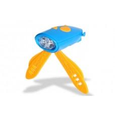 Fietsverlichting met 25 geluidseffecten Blauw Oranje - 618