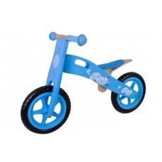 Houten loopfiets Blauw 12 inch - 684