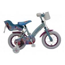 Disney Frozen 2 Kinderfiets - Meisjes - 12 inch - Blauw/Paars - 2 Handremmen - 91250-CH-IT