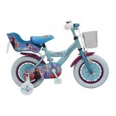 Disney Frozen 2 Kinderfiets - Meisjes - 12 inch - Blauw/Paars - 95% afgemonteerd - 91250