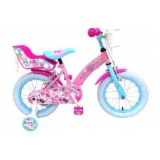 OJO Kinderfiets - Meisjes - 14 inch - Roze - 2 handremmen - 91429-IT