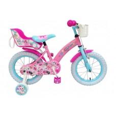OJO Kinderfiets - Meisjes - 14 inch - Roze - 91429