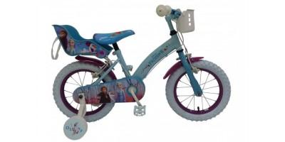 Disney Frozen 2 Kinderfiets - Meisjes - 14 inch - Blauw/Paars - 2 Handremmen - 91450-CH-IT