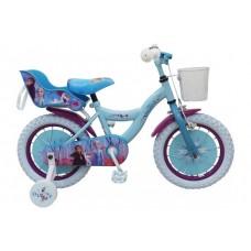 Disney Frozen 2 Kinderfiets - Meisjes - 14 inch - Blauw/Paars - 95% afgemonteerd - 91450