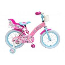OJO Kinderfiets - Meisjes - 16 inch - Roze - 2 handremmen - 91629-IT