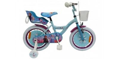 Disney Frozen 2 - Kinderfiets - Meisjes - 16 inch - Blauw/Paars - 95% afgemonteerd - 91650