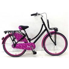 Volare Dolce 24 inch meisjesfiets zwart roze 95% afgemonteerd - 92410
