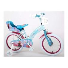Disney Frozen 2 - Kinderfiets - Meisjes - 16 inch - Blauw Paars - 2 Handremmen - 91650-CH-IT