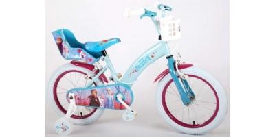 Disney Frozen 2 - Kinderfiets - Meisjes - 16 inch - Blauw/Paars - 2 Handremmen - 91650-CH-IT