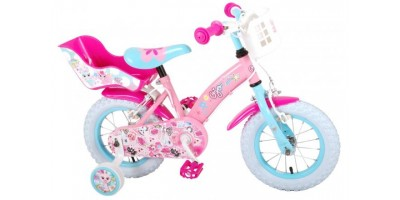 OJO Kinderfiets - Meisjes - 12 inch - Roze - 2 handremmen - 91229-IT
