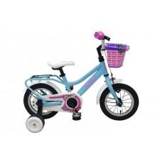 Volare Brilliant Kinderfiets - Meisjes - 12 inch - Blauw - 95% afgemonteerd - 91243