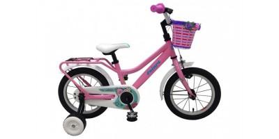 Volare Brilliant Kinderfiets - Meisjes - 14 inch - Roze - 95% afgemonteerd - 91422