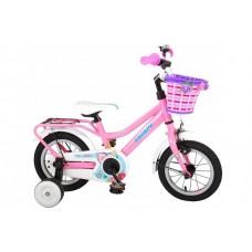 Volare Brilliant Kinderfiets - Meisjes - 12 inch - Roze - 95% afgemonteerd - 91242