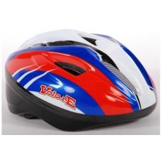 Volare Fiets-Skatehelm Deluxe Rood Blauw Wit - 528
