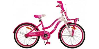 Volare Lovely Kinderfiets - Meisjes - 20 inch - Roze Wit - 2090