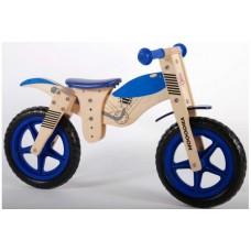 Yipeeh houten loopfiets Brommer Blauw 12 inch - 427